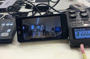 Die kleine Kamera zeigt, wer gerade redet